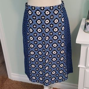 Boden Lined Skirt w/ Pockets, 100% Cotton, Size 8L